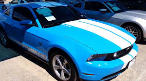 white mustang blue stripes 2010 ford mustang gt300 blue white rally stripes 5k