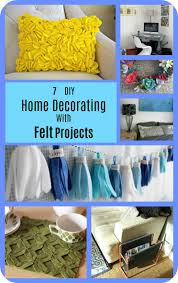 7 diy home decorating with felt projects diy thought is super easy to do keep it simple and make traditional triangle bunting or mix it up with this fun tassel bunting either way it will look great