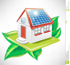 house with solar house with solar panel alternative energy icon illustration