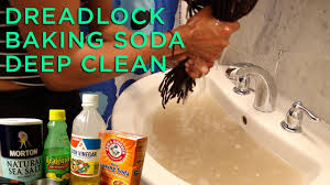 how to deep clean dreadlocks baking soda deep clean tutorial review youtube
