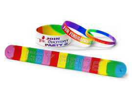 colored rubber bracelet images Rainbow wristbands for event parties gay rights png