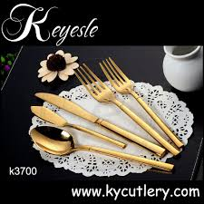 gold plated cutlery gold cutlery set gold plated flatware