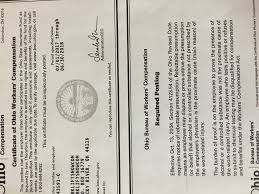 bureau workers comp workers comp certificate forkliftsnow com