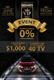 nissan canada parts catalogue vip sales event sherway nissan