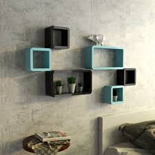 Shelves For Bedroom by Black And Sky Blue Six Cube Rectangle Display Wall Shelf