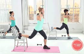 Chair Squat Fit In 10 With These Toning Chair Exercises