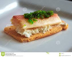 m canape smoked fish canape stock photo image of smoked 7196974