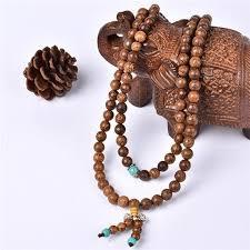 bead necklace bracelet images Wood meditation buddhist prayer beads necklace bracelet onskai jpg