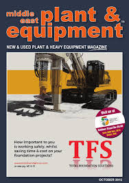 middle east plant u0026 equipment october 2015 edition by middle
