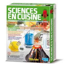 jeux enfants cuisine kit sciences en cuisine 4m king jouet jeux scientifiques 4m