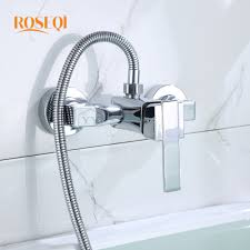 online get cheap bath tap waterfall aliexpress com alibaba group modern simple brushed bathroom waterfall shower faucet big square single handle mixer tap control valve wall