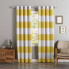 Yellow Brown Curtains Curtain Magnificent Rugby Stripe Curtains Outstanding Pattern And