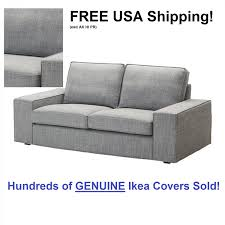 sofa slipcovers ebay ikea kivik loveseat 2 seat sofa cover slipcover isunda gray grey