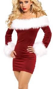 mrs claus costumes iyiss women s shoulder christmas santa
