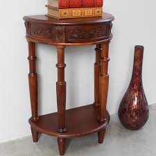 half moon console table with drawer international caravan windsor hand carved half moon console table