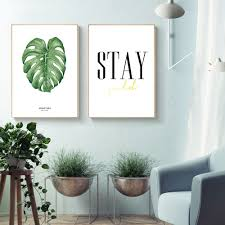 Nordic Decoration Compare Prices On Leaf Posters Online Shopping Buy Low Price Leaf
