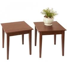 shaker style side table manchester wood stacking shaker side table set of 2 chestnut you