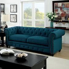 Turquoise Tufted Sofa by Stanford Sofa Seat Dark Teal Fabriccm6269tl Sf