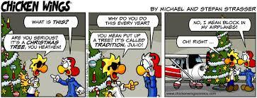 christmas tree chicken wings comics