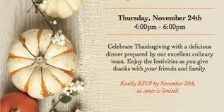 thanksgiving flyers oakmont senior living
