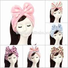 korean headband korean plush headband bath spa wash make up remover towel