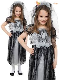 girls ghost zombie corpse bride fancy dress up halloween book week