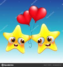 imagenes animadas sobre amor estrellas de dibujos animados en el amor con globos de corazón