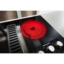 Home Depot Electric Cooktop Kitchenaid 36 In Electric Downdraft Cooktop In Stainless Steel