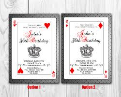 Cards Invitation Playing Cards Invitation Poker Invite Royal Queen Of Hearts