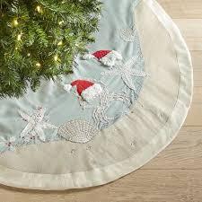 white tree skirt starfish santa coastal tree skirt pier 1 imports