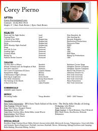 Free Acting Resume Template Download Free Acting Resume Template Examples Ms Word Theater Saneme