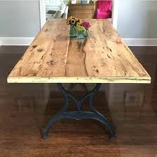Dining Room Table Rustic Farm Dining Table Rustic Hickory Farm Table With Cast Iron Base
