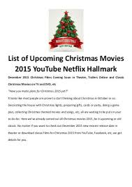 best christmas movies songs christmas movies 2015 on youtube