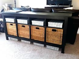 Changing Table Storage Baskets Magnificent Sofa Table With Storage Baskets 6 Vintage Decor