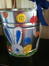easter pail painted personalized easter or easter basket easter