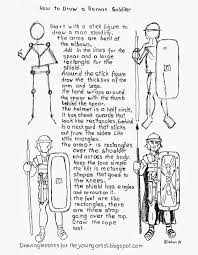 how to draw a roman legion soldier worksheet how to draw