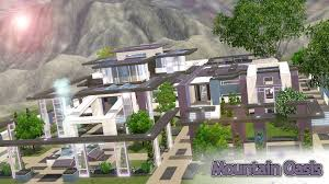 the sims 3 house building mountain oasis youtube