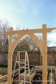 how to build a trellis archway vegetable garden arbor diy plans