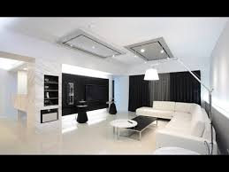 Black And White Living Room Design Decorating Ideas YouTube - White living room decoration