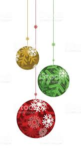 green and gold ornament bulbs hanging stock vector