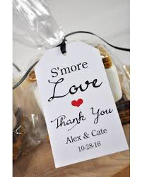 wedding favors personalized big deal on wedding favors smore favor tags bridal shower