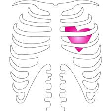 silhouette design store view design 14073 skeleton rib cage