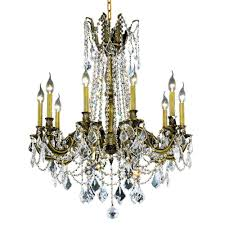 Home Depot Bronze Chandelier Elegant Lighting 10 Light Antique Bronze Chandelier With Clear