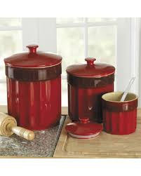 kitchen canister don t miss this deal on chefs stoneware kitchen canister set 3