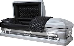 black caskets 8460 special silver casket 18ga black smooth leather look