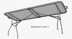 Folding Table by Folding Table 3d Model Cgtrader
