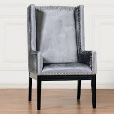 collection in velvet accent chair tribeca grey black tufted