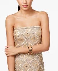 adrianna papell strapless beaded shift dress dresses women