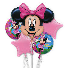 large birthday balloons minnie mouse birthday mylar balloon bouquet inflated balloon