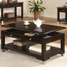 dark brown walnut finish modern coffee table w options